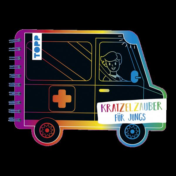 Kratzelzauber Für Jungs (Kratzelbuch in Autoform)