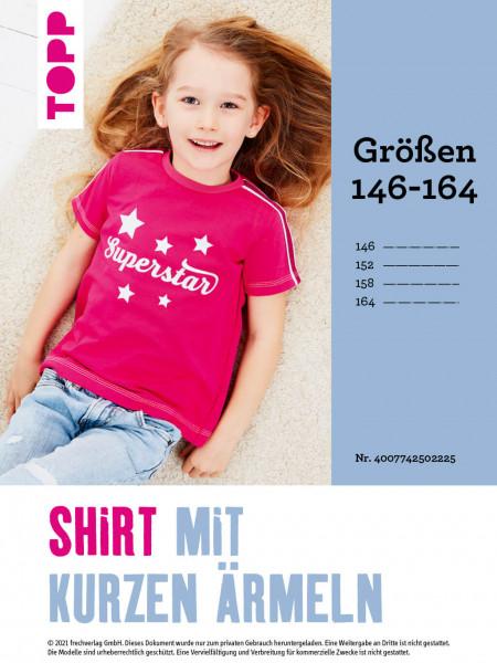 Shirt mit kurzen Ärmeln (Schnittmuster in Gr. 146–164 ohne Anleitung)