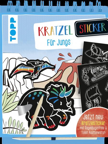 Kratzel-Stickerbuch für Jungs