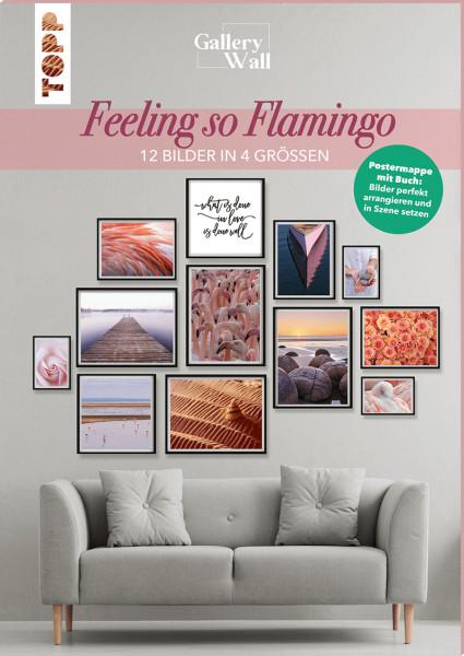 """Gallery Wall """"Feeling so Flamingo""""-12 Bilder in 4 Größen"""
