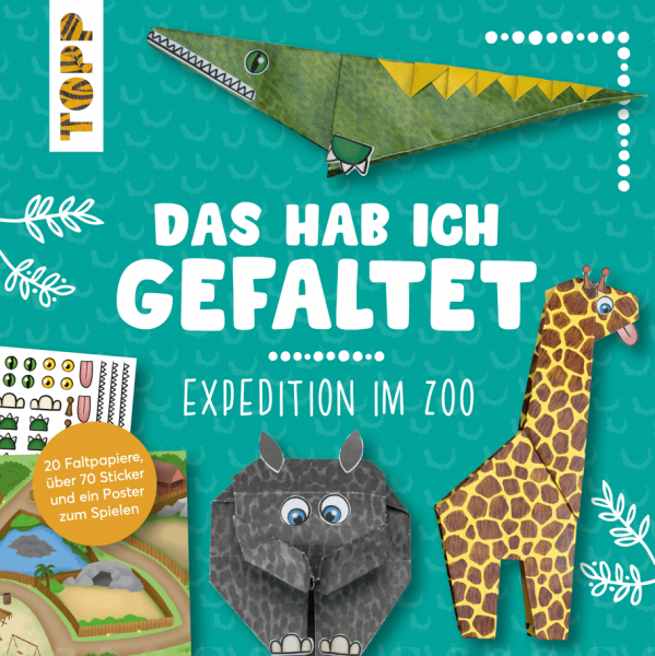 Das hab ich gefaltet Mini-Papierset - Expedition im Zoo