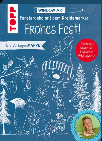 Vorlagenmappe Fensterdeko mit dem Kreidemarker - Frohes Fest!