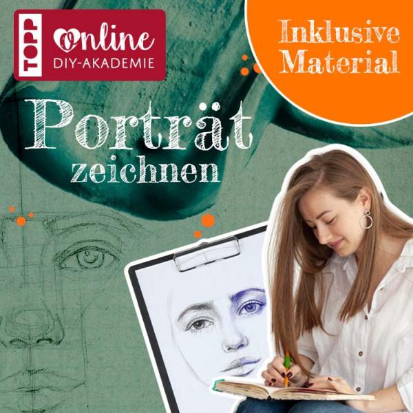 Porträt zeichnen Online Workshop mit Melinda Simon