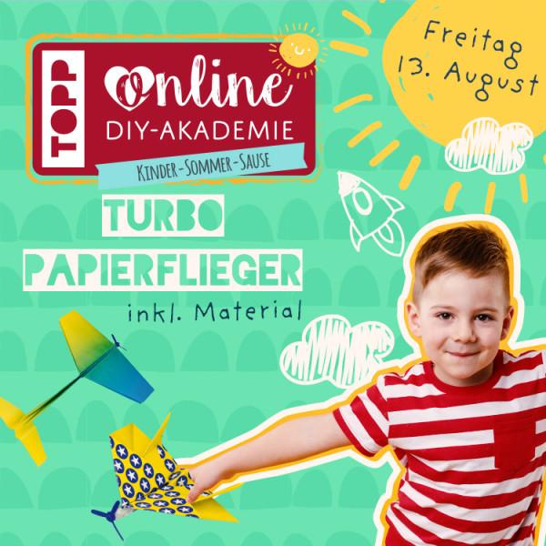 """Bastelstunde für Kids """"Turbo-Papierflieger falten"""""""