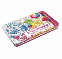 Colorful World Designdose mit 12 Premium-Buntstiften 18133