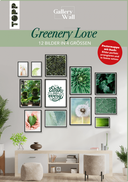 "Gallery Wall ""Greenery Love"" - 12 Bilder in 4 Größen"