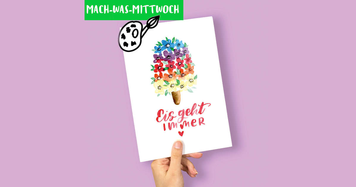 Handlettering-Watercolor-Eis-malen