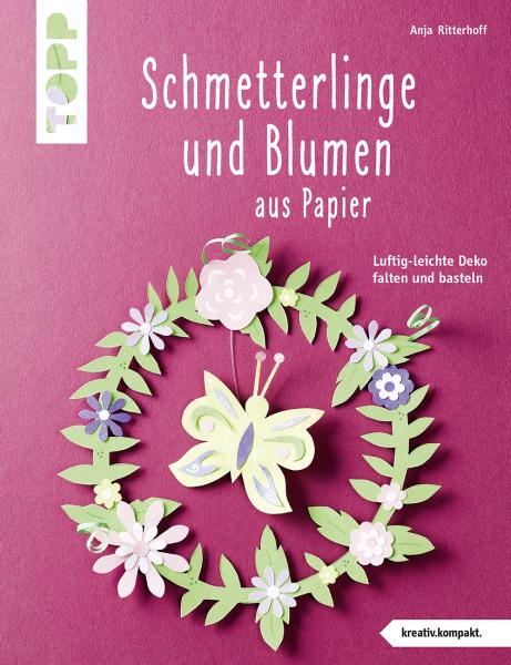 Schmetterlinge und Blumen aus Papier