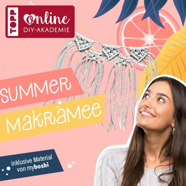 Online Workshop Makramee Wimpelkette Girlande mit Josephine Kirsch