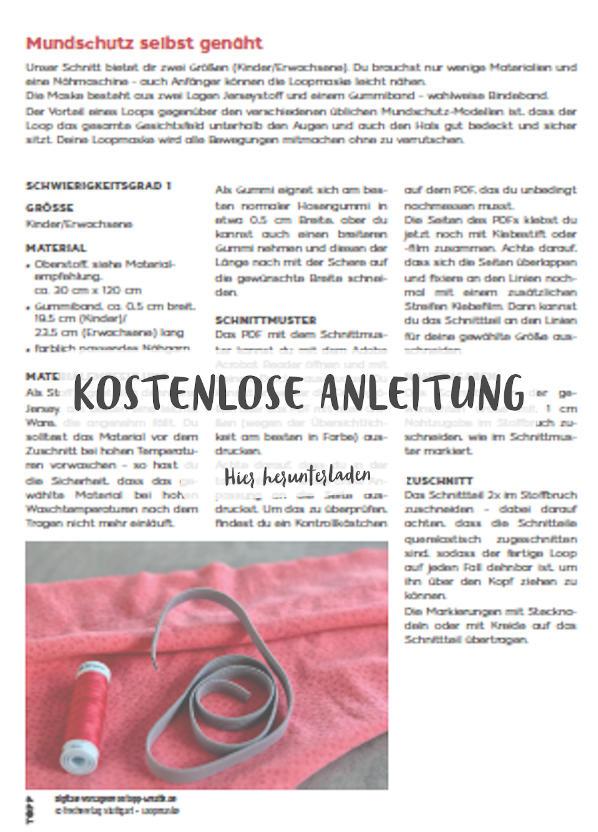 Anleitung für eine Loopmaske
