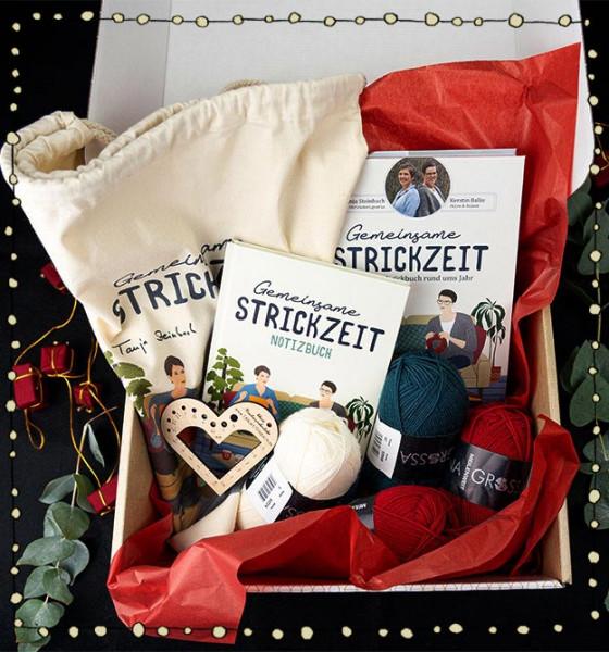 Weihnachtsgeschenk Gemeinsame Strickzeit von Tanja Steinbach und Kerstin Balke