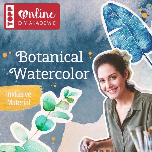 Online Workshop Botanical Watercolor von TOPP DIY Akademie