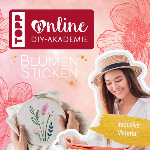 Online Workshop für Anfänger Florale Motive Sticken mit Anne Mende - TOPP DIY Akademie
