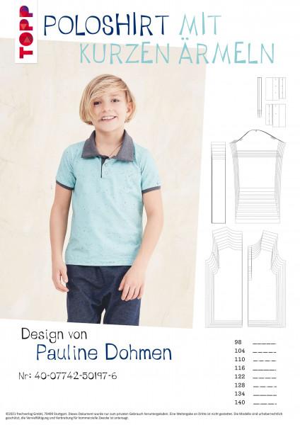 Poloshirt mit kurzen Ärmeln (nur Schnittmuster, ohne Anleitung)
