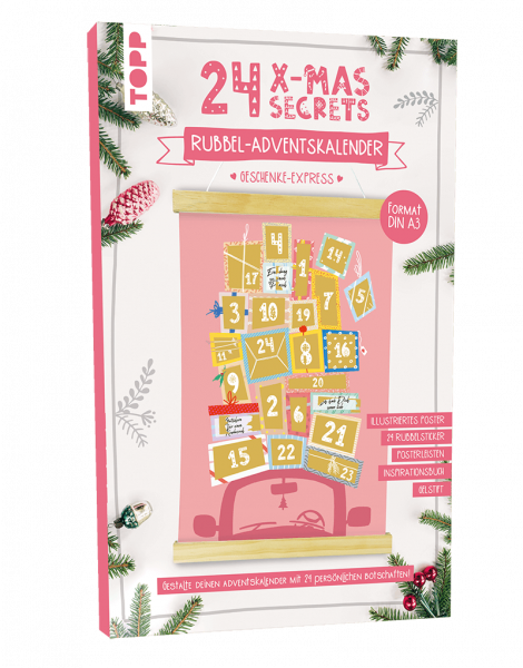 24 X-MAS SECRETS - Rubbel-Adventskalender - Geschenke-Express