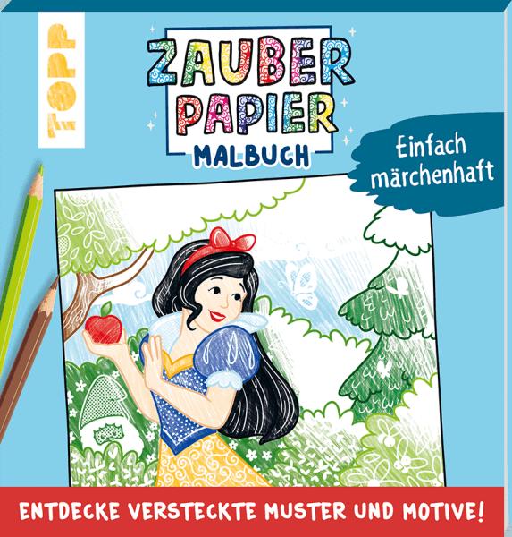 Zauberpapier Malbuch Thema Märchen Cover
