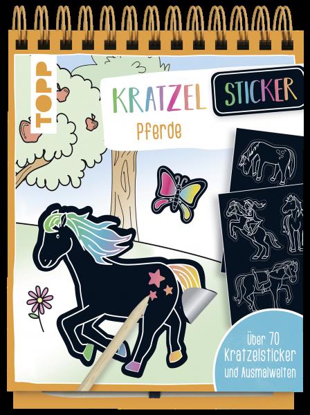Kratzel-Stickerbuch Pferde