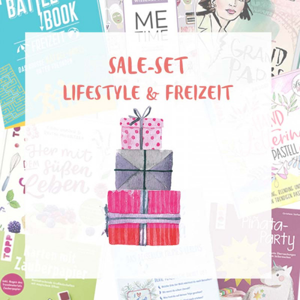 Sale-Set rund um Lifestyle, Freizeit, me time, Backen, Reisen, Rätseln und Basteln
