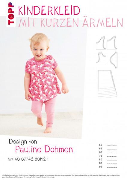Kinderkleid mit kurzen Ärmeln (nur Schnittmuster, ohne Anleitung)