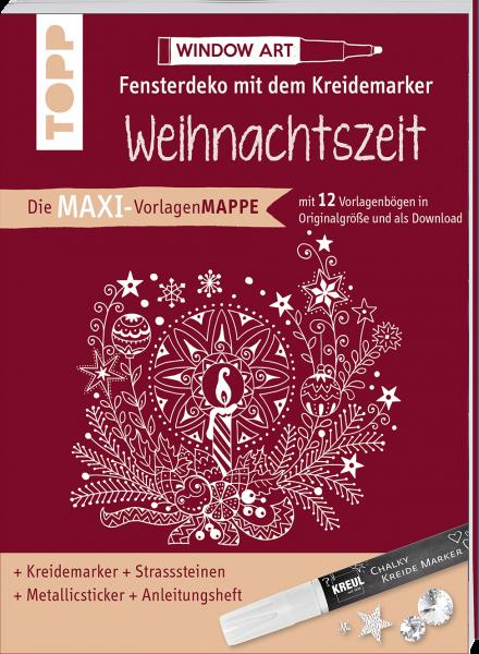 Maxi-Vorlagenmappe Fensterdeko mit dem Kreidemarker - Weihnachtszeit
