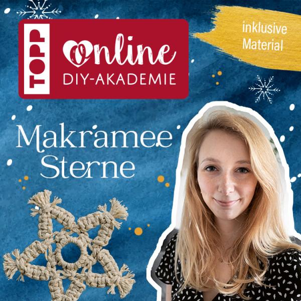 Makramee Sterne knüpfen Online-Workshop DIY Akademie
