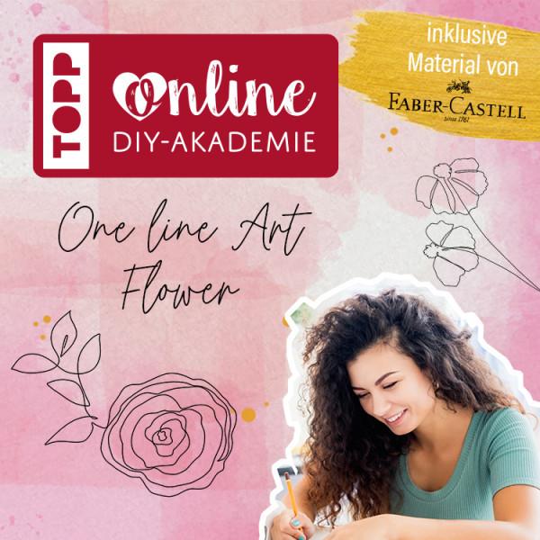 """One Line Art Online-Workshop """"Blume zeichnen"""""""