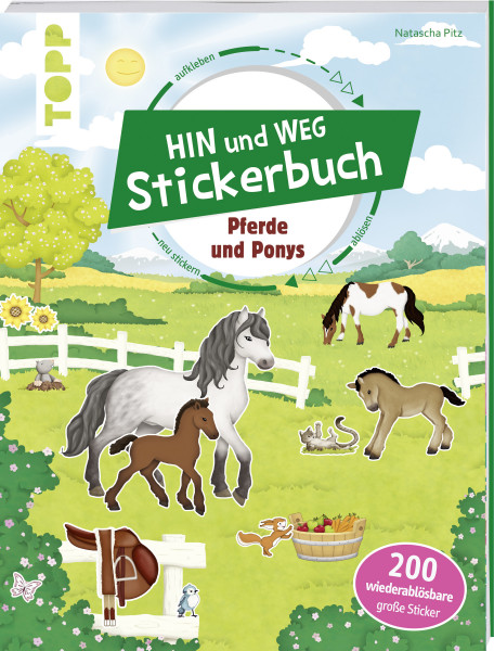 Das Hin-und-weg-Stickerbuch. Pferde und Ponys