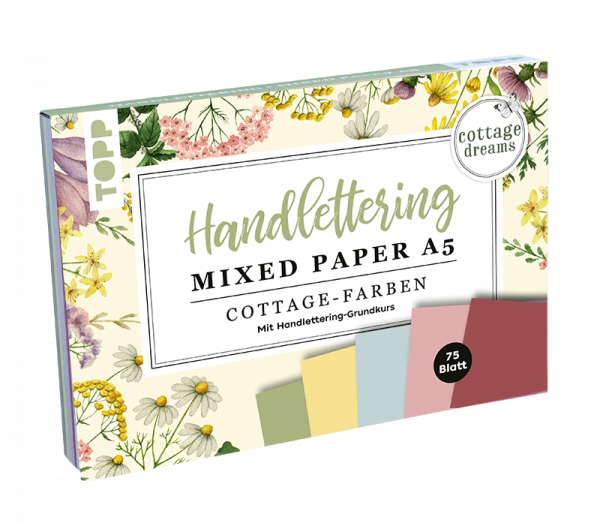 A5 Handlettering Mixed Paper Block Cottage Dreams