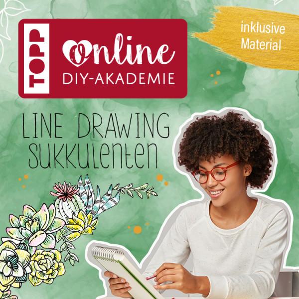 Line Drawing Online Workshop Sukkulenten