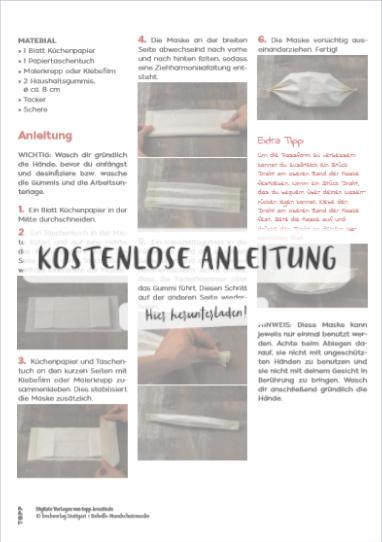 Anleitung für Maske aus Papier