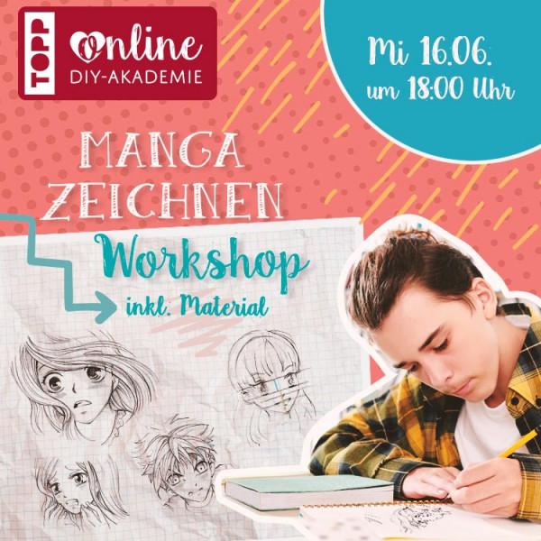 Online DIY Akademie - Manga zeichnen Online-Workshop via ZOOM inkl. Material