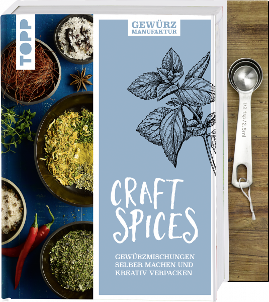 Gewürzmanufaktur Craft Spices. Buch mit Messlöffel-Set