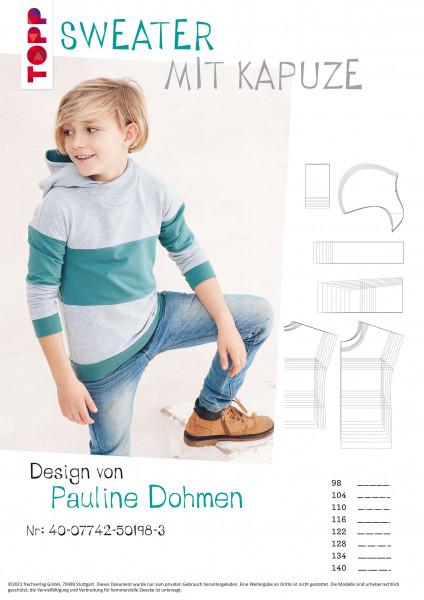Sweater mit Kapuze (nur Schnittmuster, ohne Anleitung)