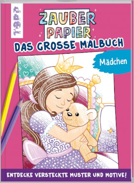 Zauberpapier Malbuch für Mädchen Coverbild